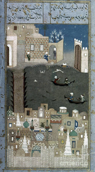 Baghdad Painting - Persian Miniature, 1468 by Granger