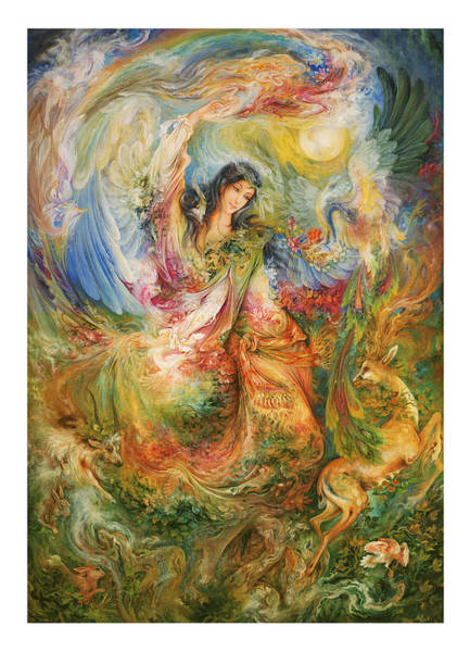 Rumi Wall Art - Painting - Persian  Miniature Oil Painting Dr28 by Salma