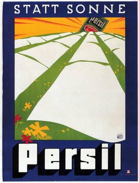 Wall Art - Mixed Media - Persil - Statt Sonne - Vintage Advertising Poster For Detergent by Studio Grafiikka