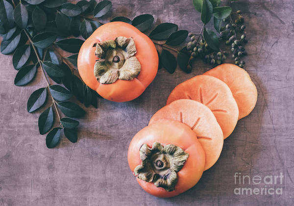 Photograph - Persimmon 2 by Andrea Anderegg