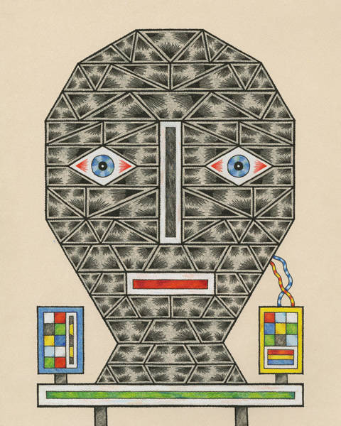 Eyeballs Painting - Personal Advice Kiosk by Matt Leines