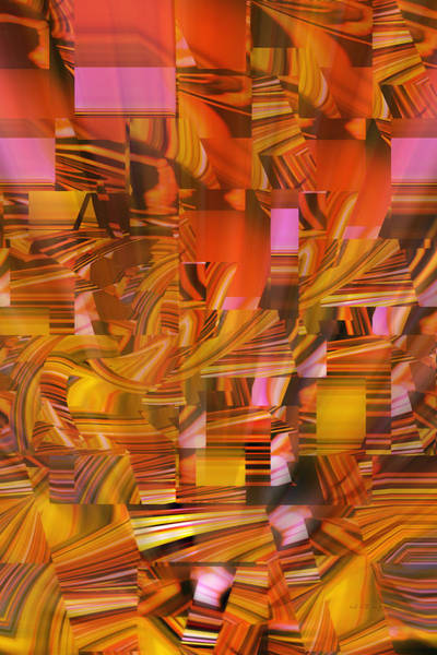 Digital Art - Perspective Going Down by rd Erickson