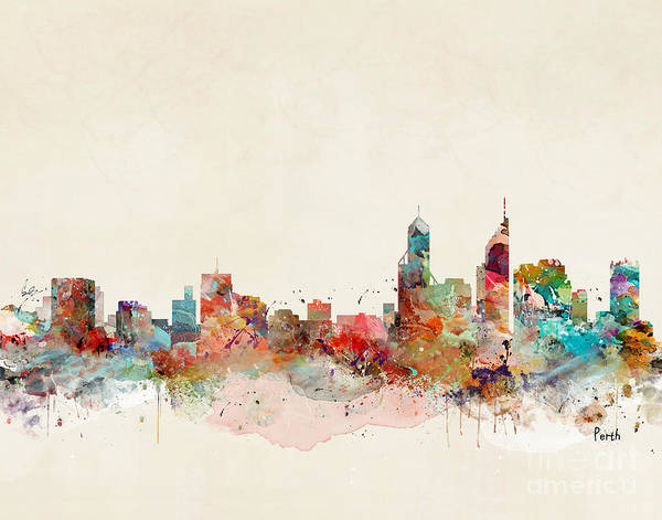 Australia Painting - Perth Australia by Bri Buckley