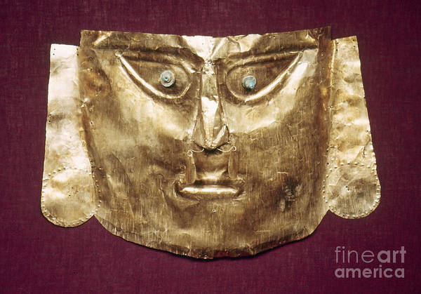 Photograph - Peru: Chimu Gold Mask by Granger