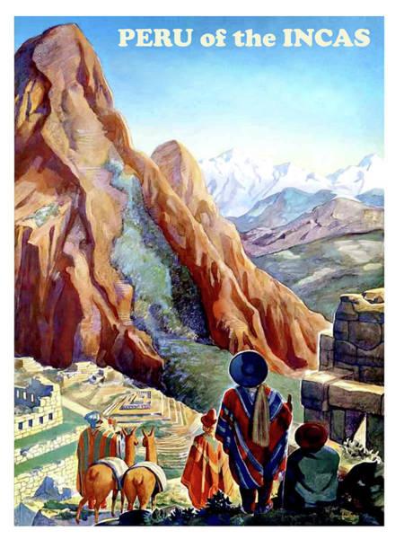 Ruin Painting - Peru, Mountains, Incas, Landscape by Long Shot