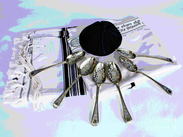 Photograph - Pesach Spoons by Larry Oskin