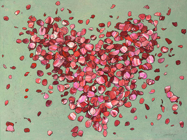 Painting - Petal Arrangement by James W Johnson