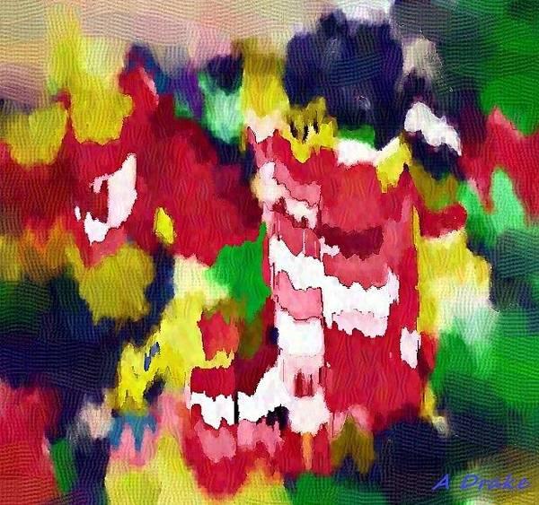 Digital Art - Petal Pollen Volcano by Alec Drake