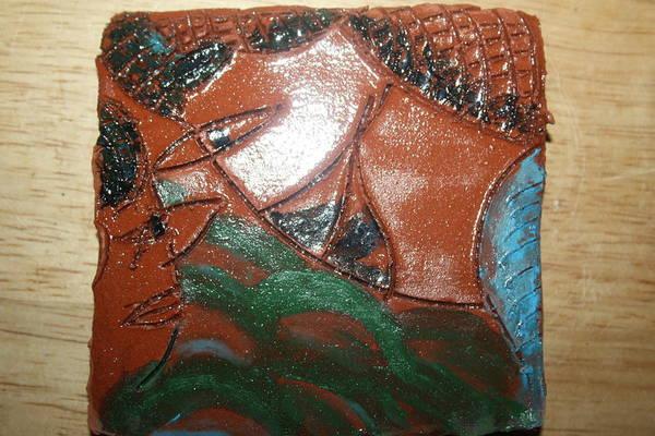 Ceramic Art - Petals - Tile by Gloria Ssali