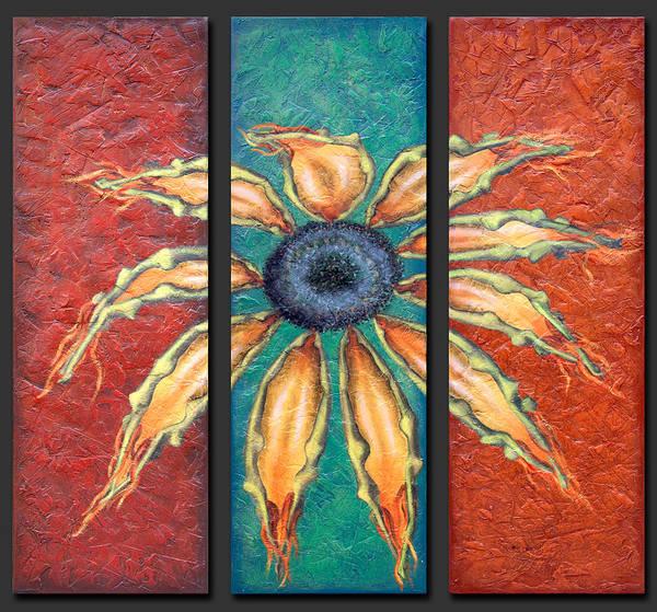 Sun Set Painting - Petals by Kelly Jade King