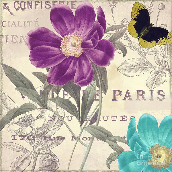 Wall Art - Painting - Petals Of Paris II by Mindy Sommers