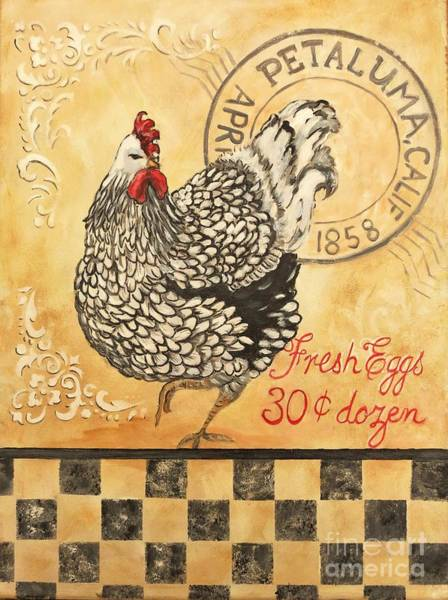 Holly Brannan Wall Art - Painting - Petaluma Chicken by Holly Bartlett Brannan