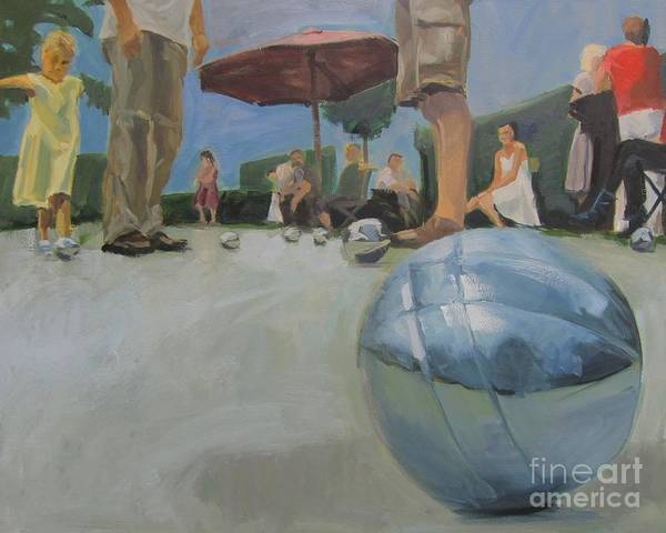 Painting - Petanque 7 by Chris Willems