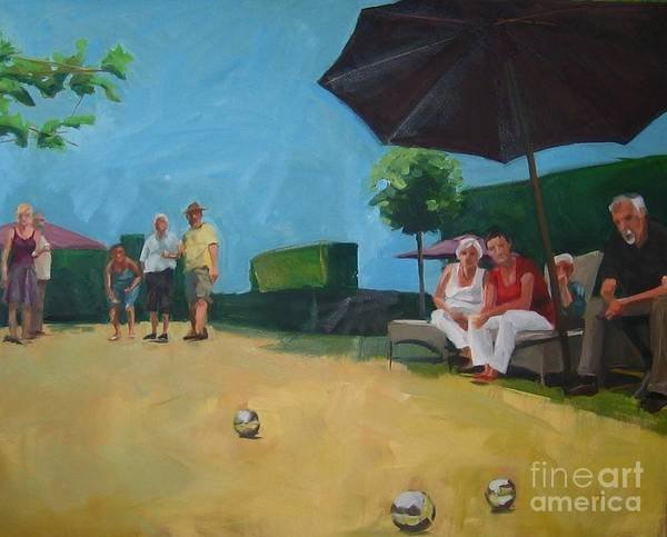 Painting - Petanque by Chris Willems