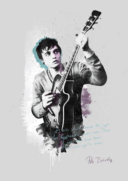 Wall Art - Digital Art - Pete Doherty A Little Death Around The Eyes by BONB Creative