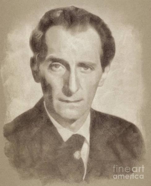 Pinewood Drawing - Peter Cushing, Acting Legend By John Springfield by John Springfield