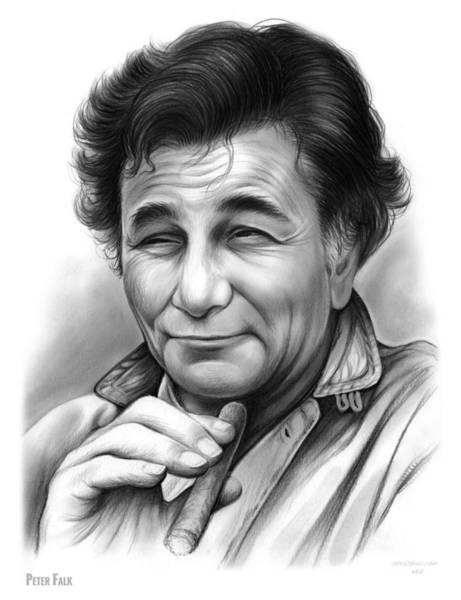 Academy Award Wall Art - Drawing - Peter Falk by Greg Joens