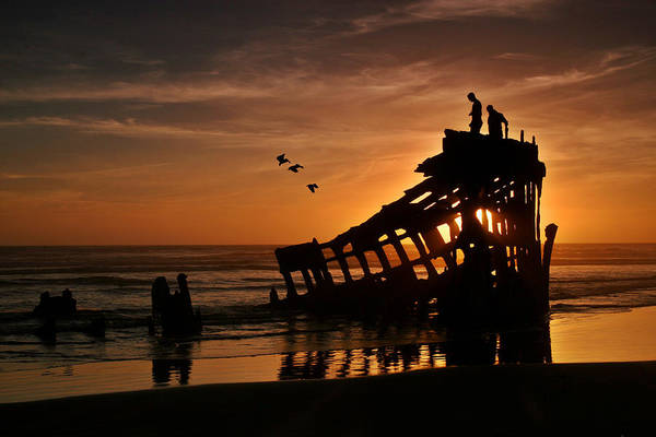 Photograph - Peter Iredale Shipwreck by Wes and Dotty Weber