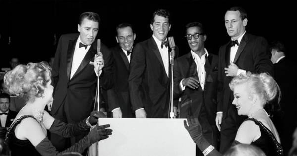 Photograph - Peter Lawford, Frank Sinatra, Dean Martin, Sammy Davis Jr. And J by Doc Braham
