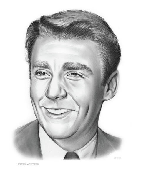 Wall Art - Drawing - Peter Lawford by Greg Joens