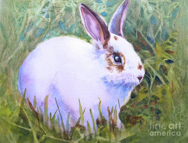 Wild Rabbit Painting - Peter Rabbit In The Grass by Bonnie Rinier