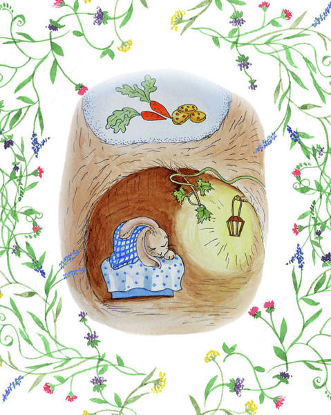 Painting - Peter Rabbit Watercolor Illustration I by Irina Sztukowski
