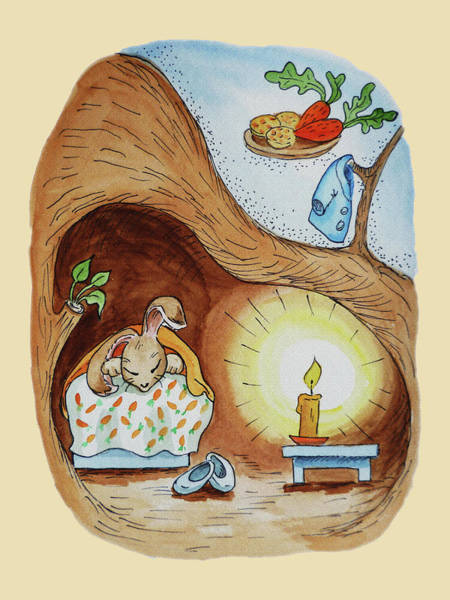Painting - Peter Rabbit Watercolour Illustration II by Irina Sztukowski