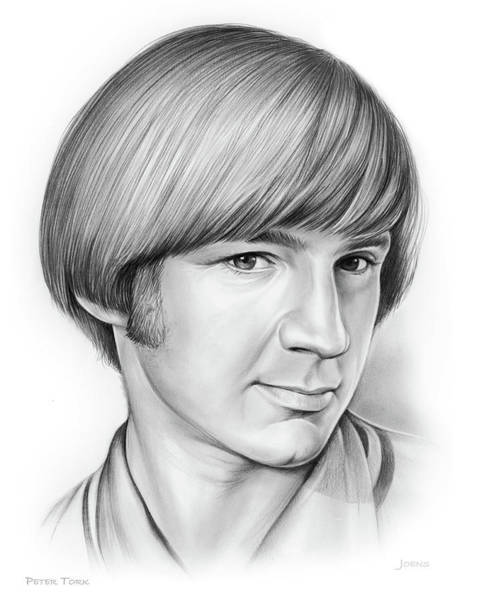 Fish Drawing - Peter Tork by Greg Joens