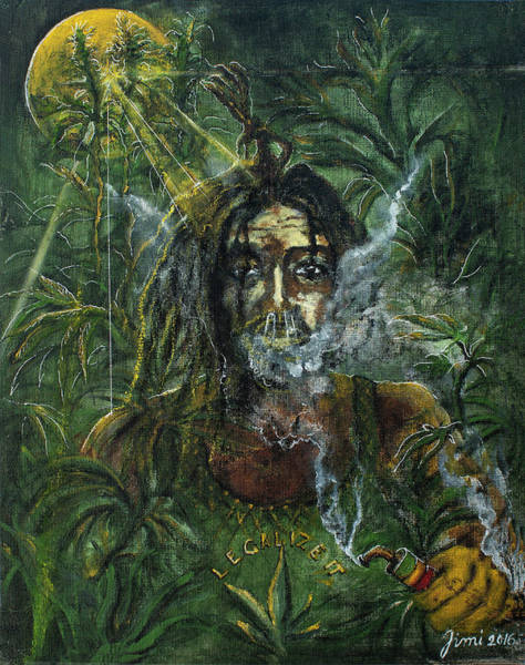 The Wailers Painting - Peter Tosh - Legalise It by Albin Jaric
