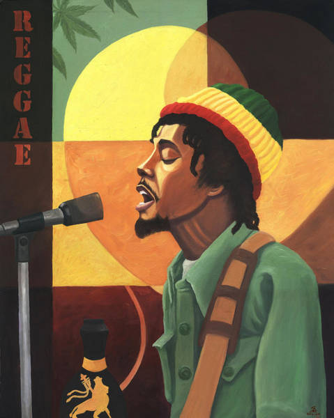 The Wailers Painting - Love Reggae by Kavion Robinson
