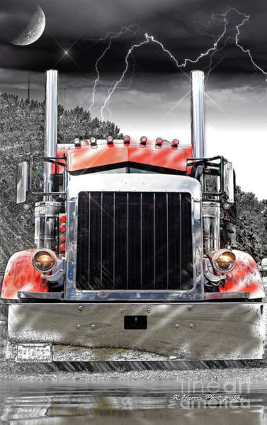 Wall Art - Photograph - Peterbilt Front End Abstract by Randy Harris