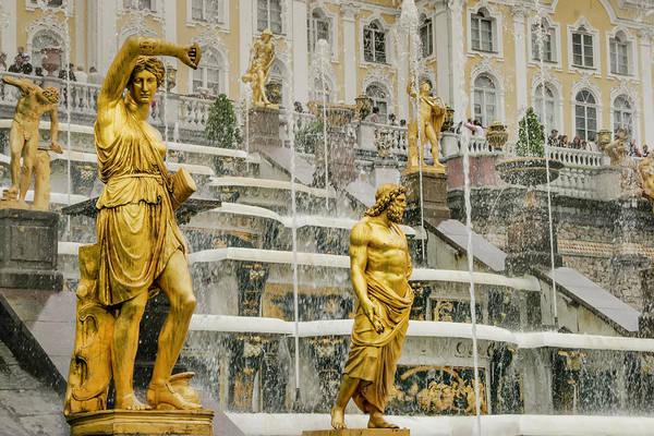 Photograph - Peterhof Grand Cascade by KG Thienemann
