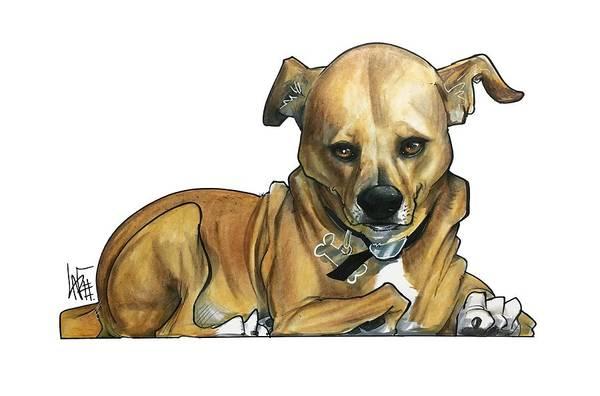 Pet Portrait Drawing - Peterson 3270 by John LaFree