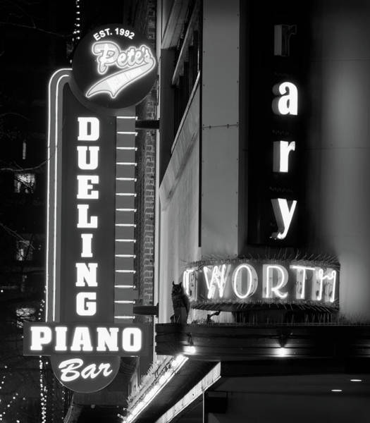 Photograph - Pete's Dueling Piano Bar B W 030818 by Rospotte Photography