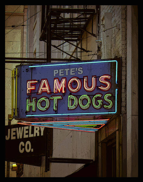 Photograph - Pete's Famous Poster by Just Birmingham