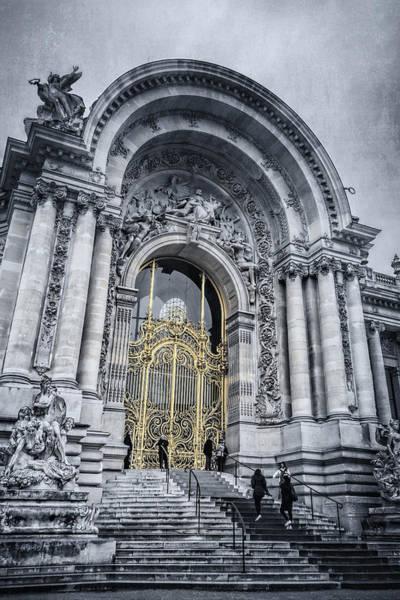 Photograph - Petit Palais Golden Gate Bw Paris by Joan Carroll