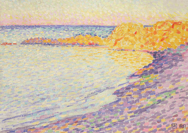 Azure Painting - Petit Plage, Saint Tropez by Theo van Rysselberghe