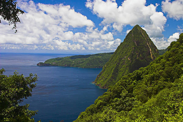Wall Art - Photograph - Petite Piton From Gros Piton-st Lucia by Chester Williams