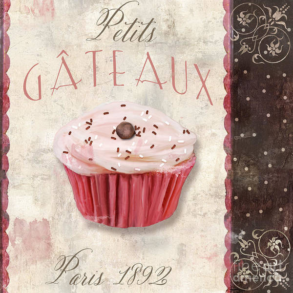 Tart Wall Art - Painting - Petits Gateaux by Mindy Sommers