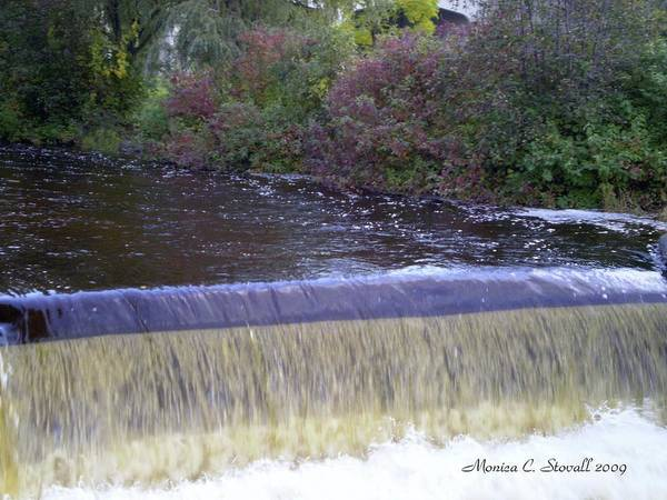 Photograph - Petoskey Mi Mineral Park Waterfall  by Monica C Stovall