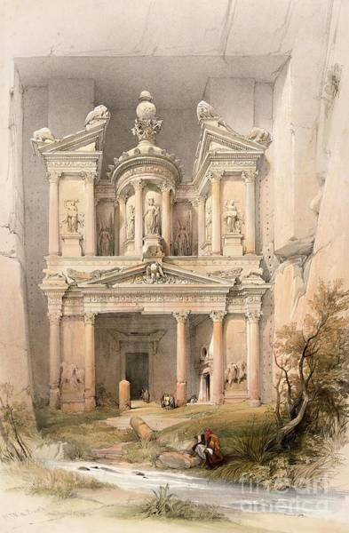 1864 Wall Art - Painting - Petra by David Roberts