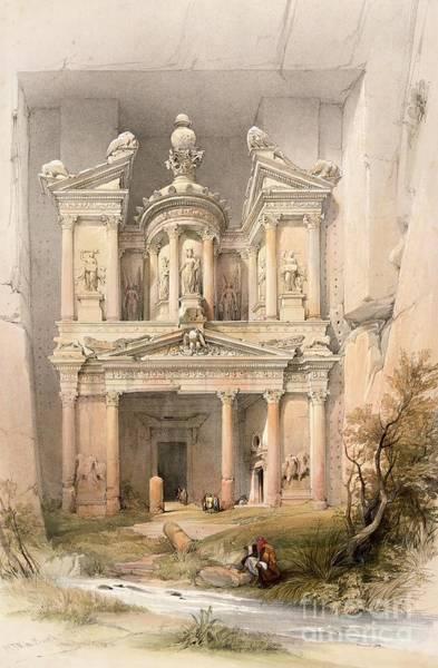 Columns Painting - Petra by David Roberts