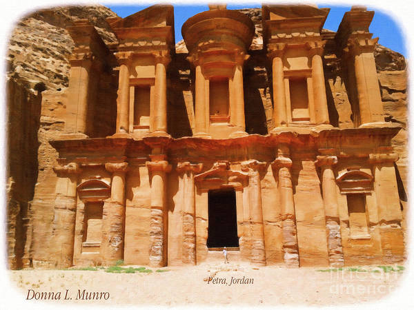 Digital Art - Petra Jordan by Donna L Munro