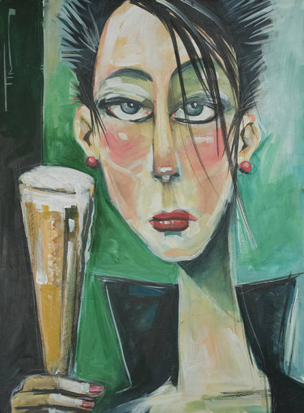 Painting - Petra's Pilsner by Tim Nyberg