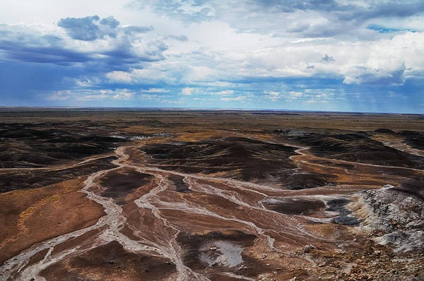 Photograph - Petrified Forest Blue Mesa Storm by Kyle Hanson