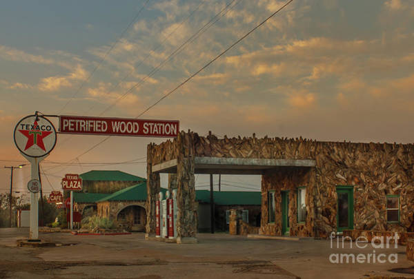 Frederick County Wall Art - Photograph - Petrified Gas Station After Rain by Robert Frederick