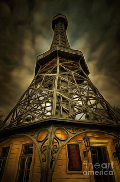 Mixed Media - Petrin Lookout Tower - Mixed Media by Michal Boubin