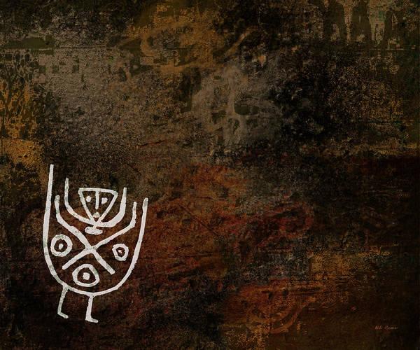 Petroglyphs Digital Art - Petroglyph 7 by Bibi Rojas