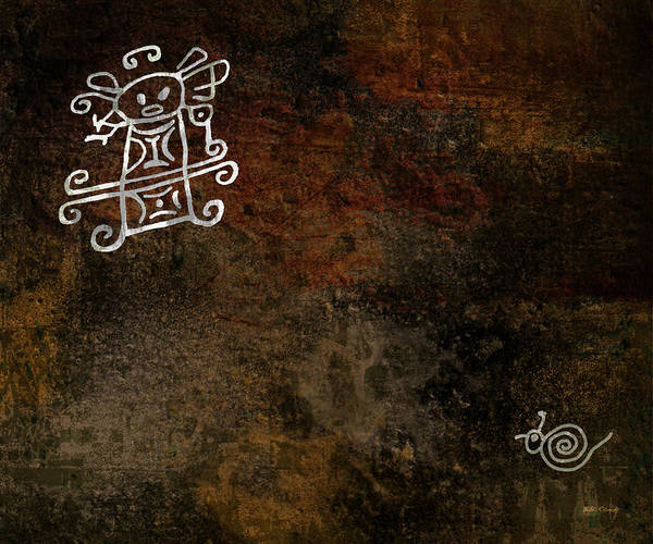 Petroglyphs Digital Art - Petroglyph 8 by Bibi Rojas