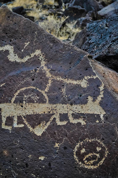 Photograph - Petroglyph Canyon Animal by Kyle Hanson